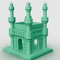 Miniature 3D replical charminar
