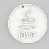 Java logo 3d key chain