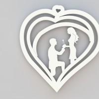 Couple Heart Key Chain