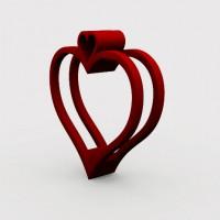 heart key chain 3d model printer