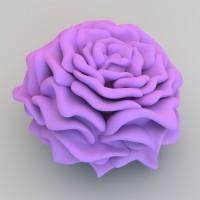 3d model printed rose
