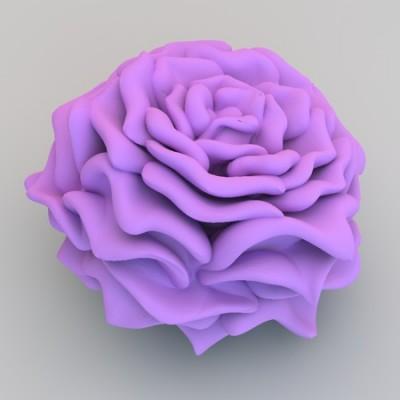 beautiful 3d printed rose