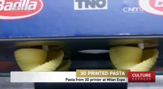 pasta 3D printed on spot