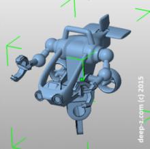 3D model of Deep-Z submarine