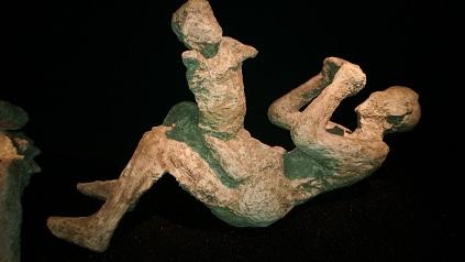 Pompeii Cast at a museum