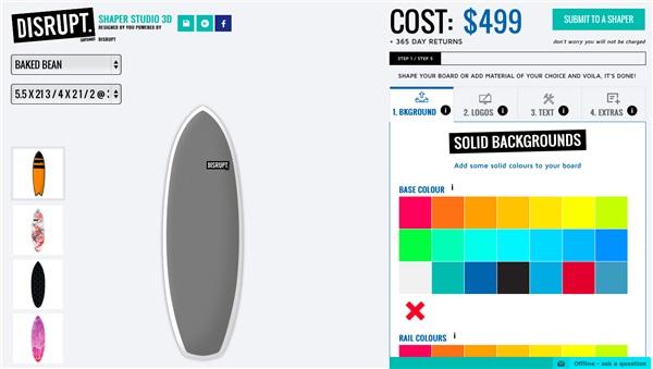 Customization of surf using tools