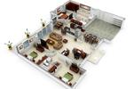 3D Floor planning visualization