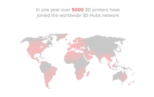 3D Hubs across the world