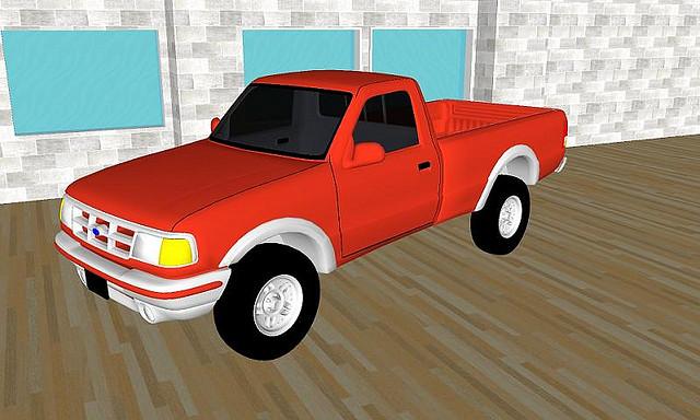 Sketchup 3D model of a Car