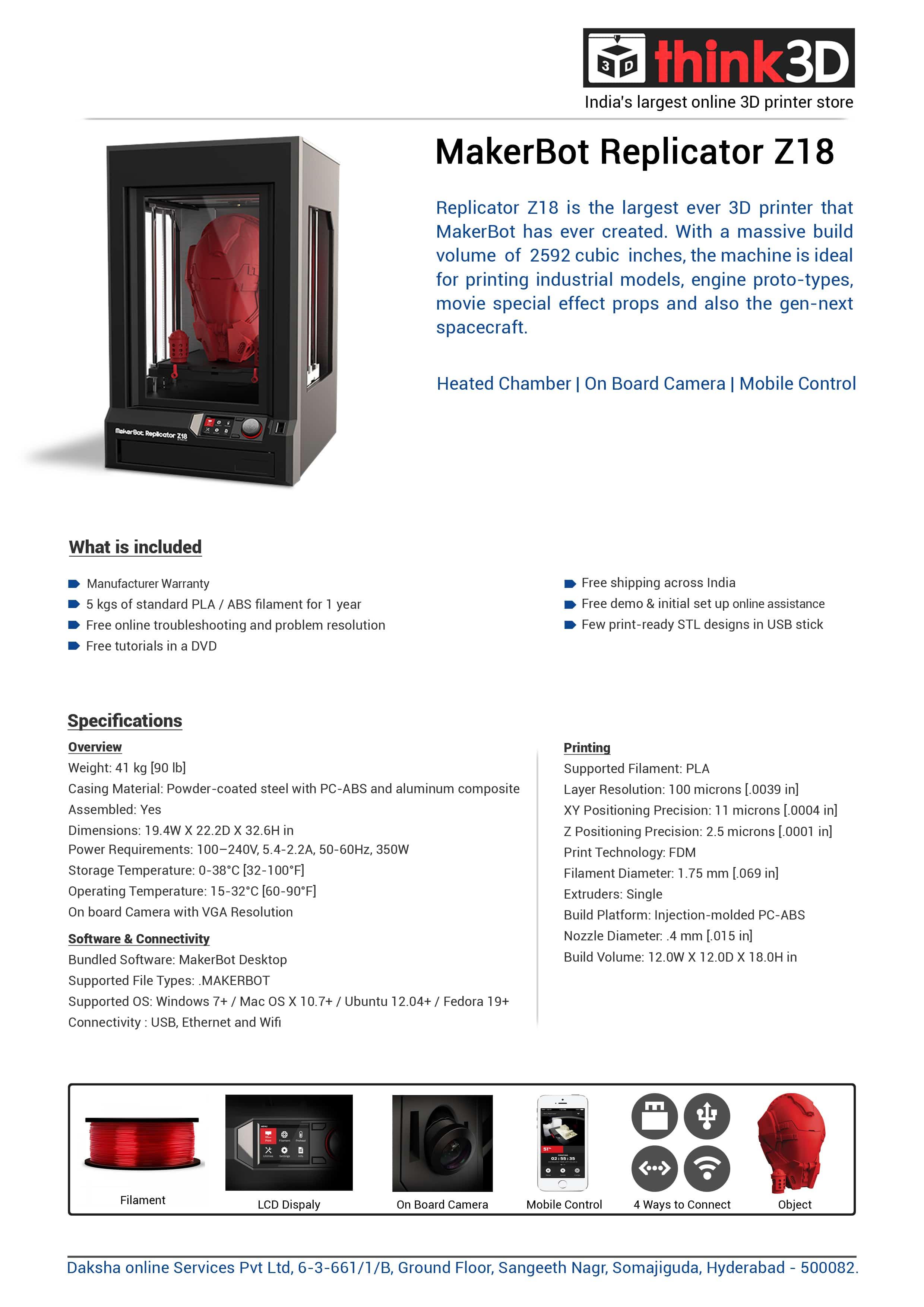 Makerbot Replicator Z18 Think3d
