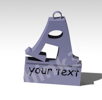 Customised Alphabet Key Chain - Letter A 1