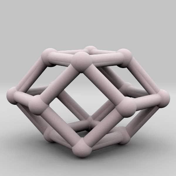 decahedron geometric 3d model think3d