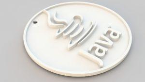 Java logo key chain 3d model