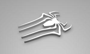 Spiderman Logo 3D model