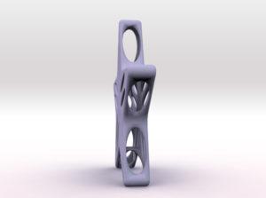 geometric star 3d printed