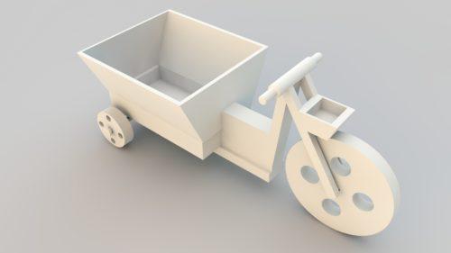 Flower vase vehicle 3d printer model