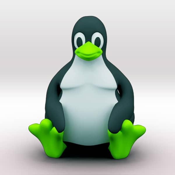 3d printed linux penguin think3d