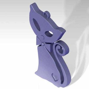 cat key chain 3d model printer