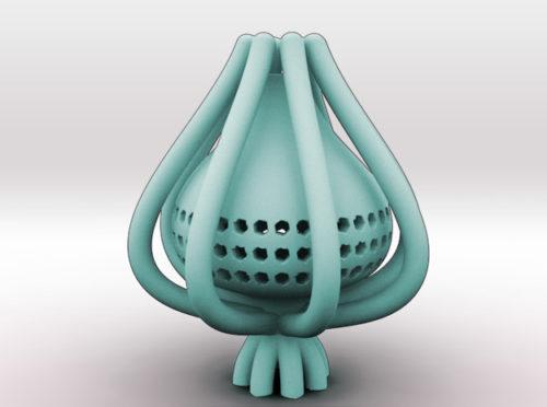 Onion flower vase 3d printer model