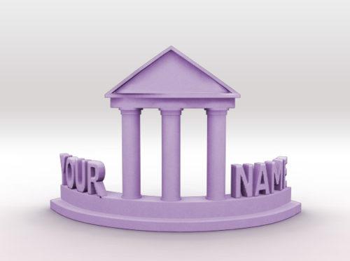 Customized name tableware 3d printer model